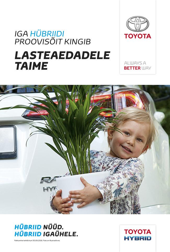 Toyota hybriid, aventus, reklaamfoto